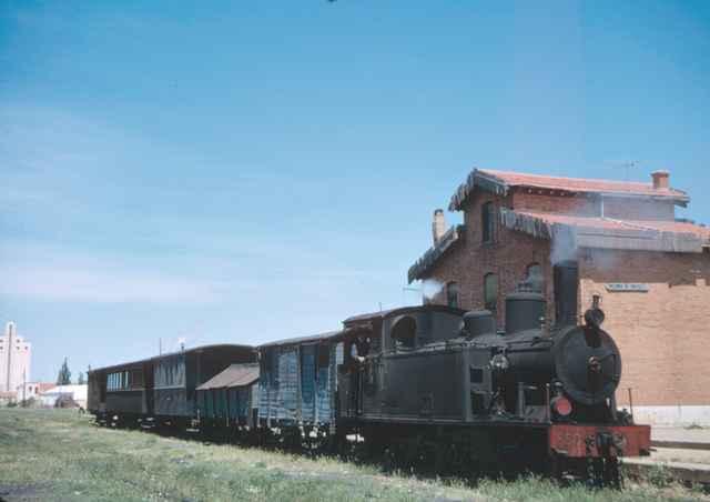 Medina de Rioseco, Locomotora 130T, nº 11, en mayo 1965,