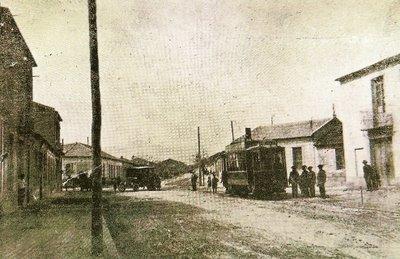 Tranvia en San Vicente de Raspeig, foto Revista Raspeig, fondo A.C.