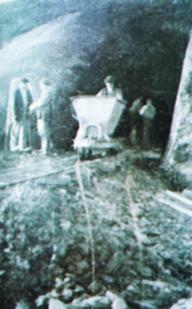 Extraccion a bocamina, año 1913, fondo Buxa