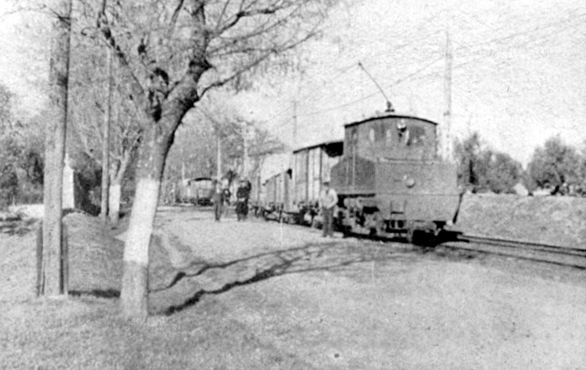 La Loma, tren en linea,