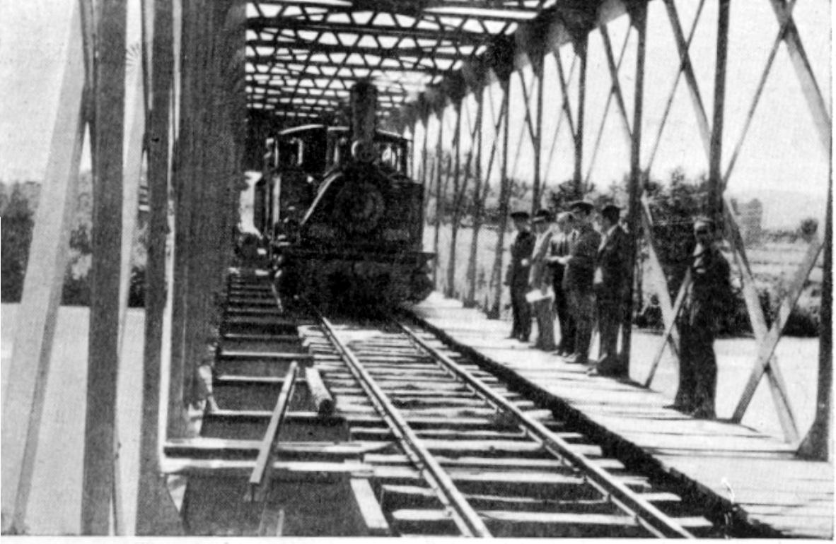 Pruebas de resistencia del puente del Alberche