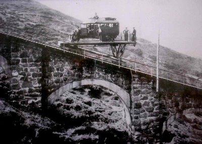 Funicular de la Reineta, fondo : Monsacro