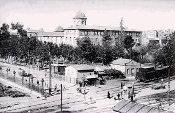 Instalaciones de la primitiva estacion de Valencia