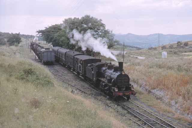 Cruce de trenes en Lucena