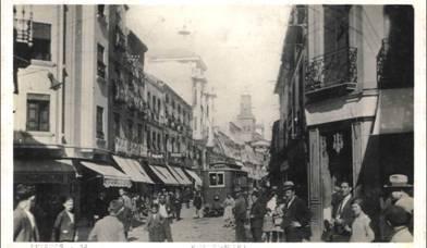 Tranvia de Linares, postalñ comercial , fondo Miguel Diago Arcusa