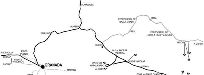 Plano de la linea de baza a Guadix, Dibujo : Pedro Pintado Quintana