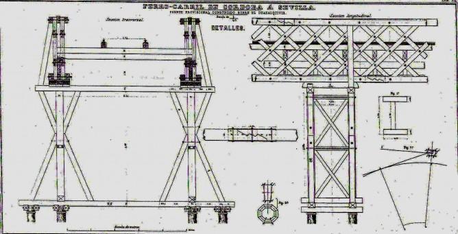 Elementos constructivos del puente provisional