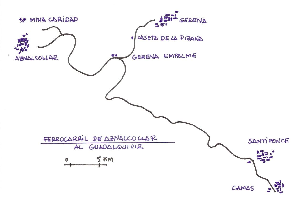 Itinerario del ferrocarril, dibujo : Juan Peris Torner
