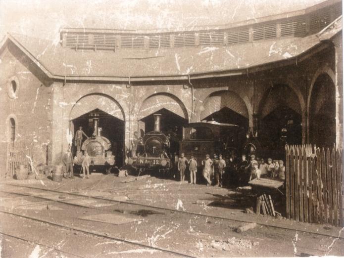 Triano, rotonda de locomotoras , año 1903