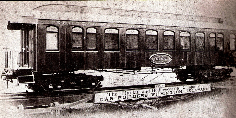"""Foto de fábrica del Coche """"Gumá"""" , julio 1881,"""