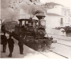Locomotora en Sant Pol de Mar