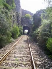 Linea de Jativa a Alcoy, túneles,
