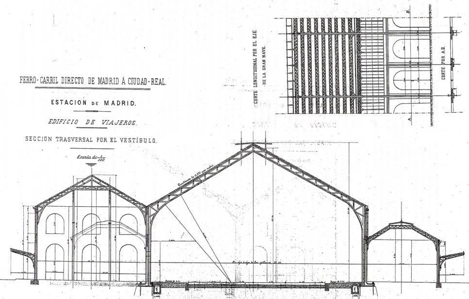 Seccion de la estacion de Delicias, ROP año 1879
