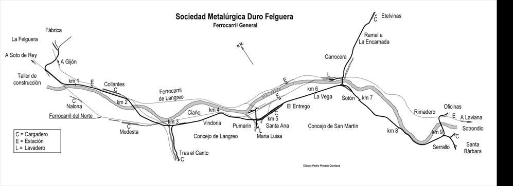 esquema de lineas, dibujo Pedro Pintado Quintana