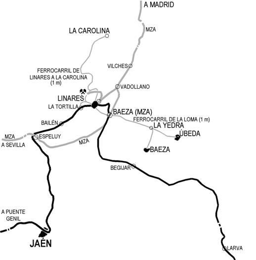 Esquema de la linea, Dibujo Pedro Pintado Quintana