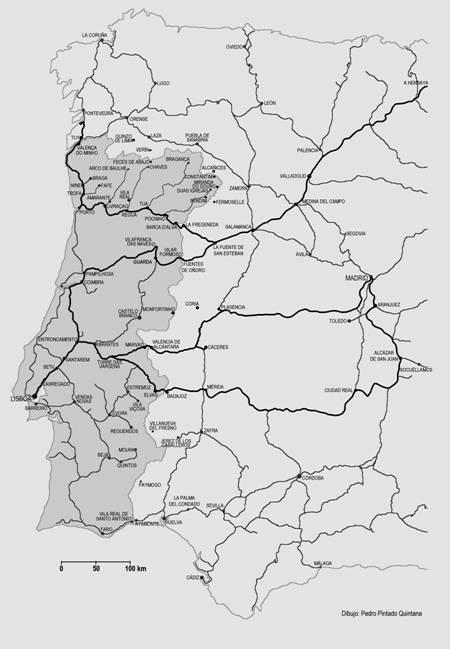 Plano de la linea, dibujo de Pedro Pintado Quintana