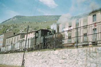 tren en Guardiola, mayo 1962,