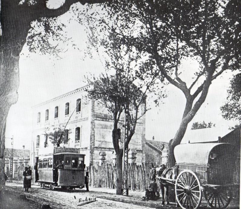 Tranvía en la terminal de Gallego