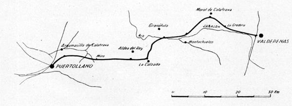 Plano de la linea, tomado de la memoria de EFE año 1942