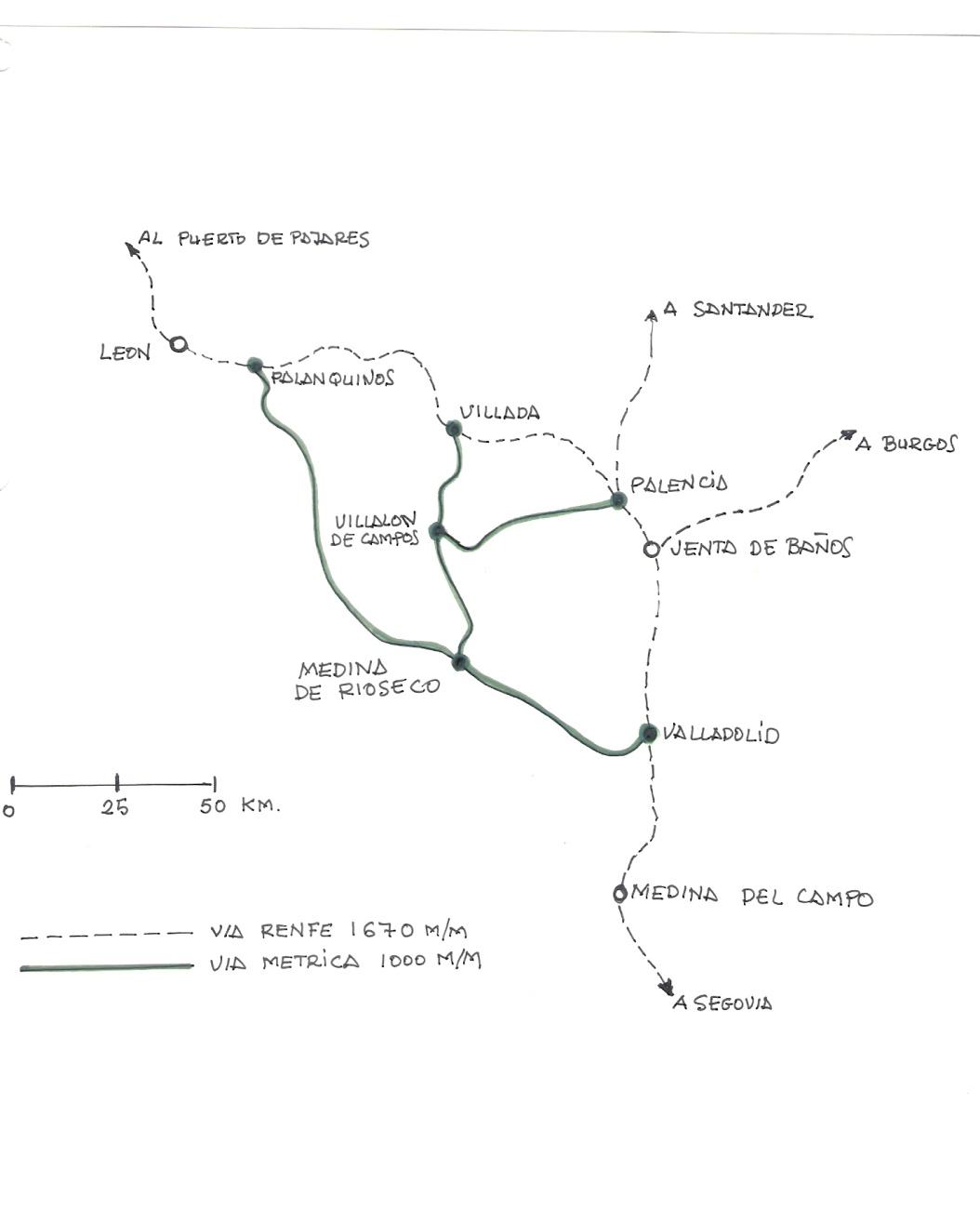 Esquema de las lineas, dibujo : Juan Peris Torner