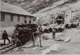 Tren auxiliar de las obras del túnel de Somport