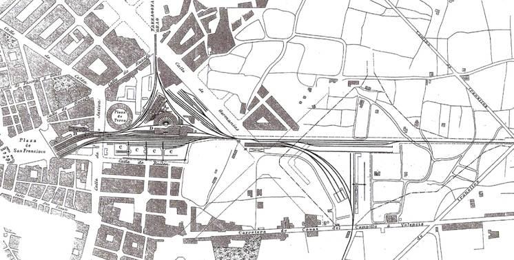 Plano de la primera estaciuón de Valencia