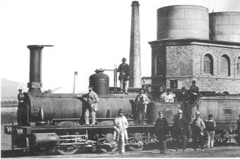 Cordoba, locomotora MZA nº 335, año 1867