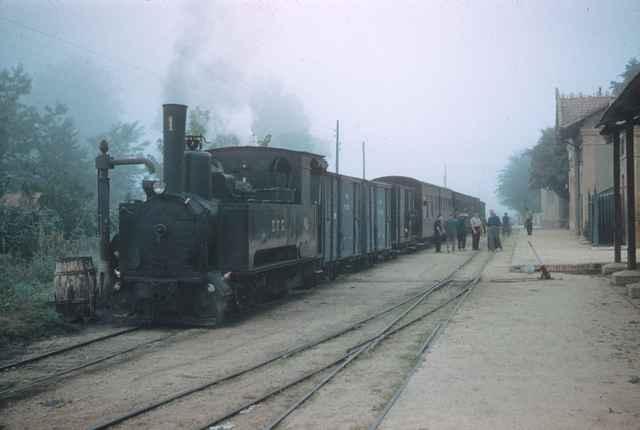 Estacion de Llagostera , abril 1961,