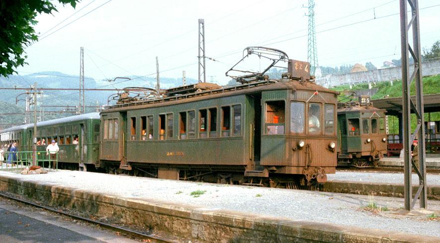 Estacion de Zumaya , enlace con Vascongados