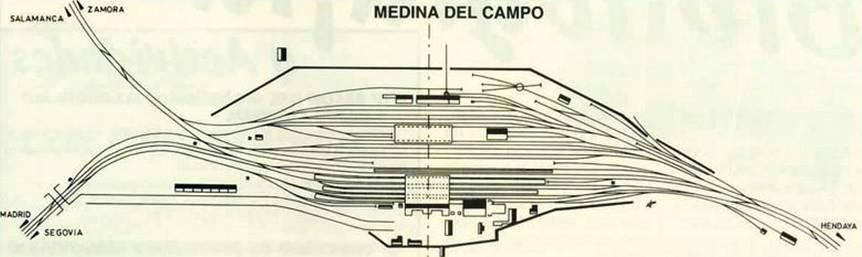 Plano de las dependencias de la estacion de Medina del Campo,