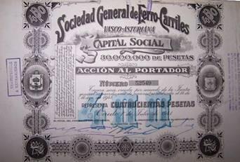 accion al portador del Vasco Asturiano