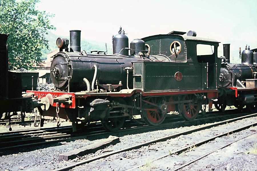 Hulleras de Turon, locomotora 110,
