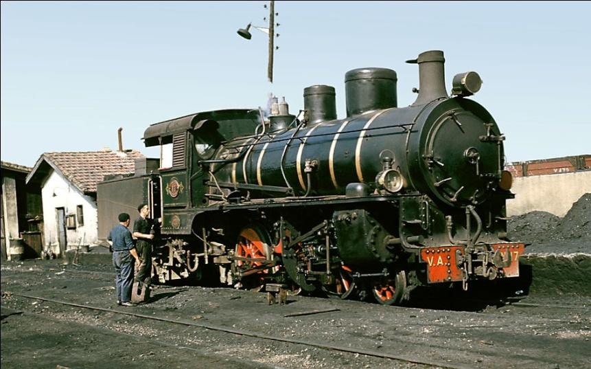 Locomotora nº 17 en Oviedo,