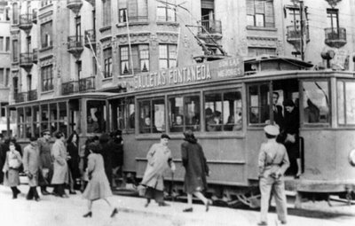 Tranvia en Puerto Chico , año 1931, fodo: Foto Org