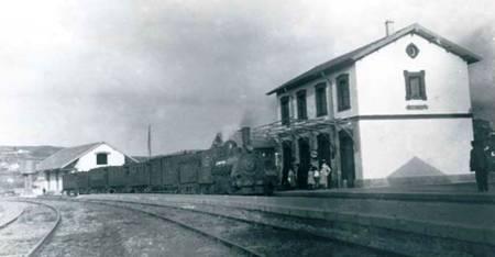 Estacion de Betanzos (pueblo) , año 1920, fondo Buxa