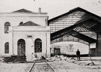 Edificio de la primitiva estacion de Zamora