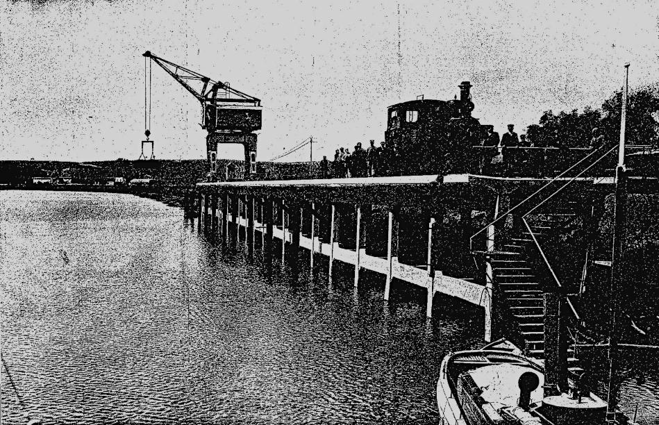 Muelle embarcadero de los Gordales sobre el Guadalquivir, año 1910