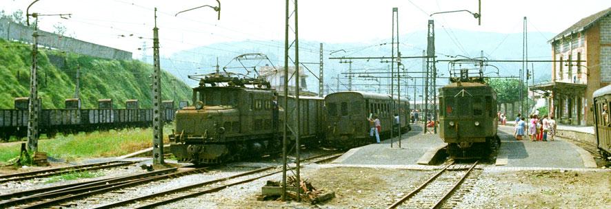 Estacion de Zumaya, enlace con Vascongados,