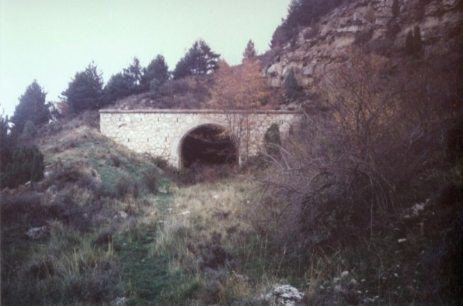 Boca del tunel de la cima de San Yus, foto Juan Manero