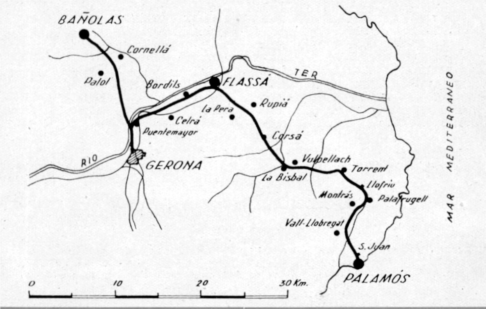 Esquema de la linea, Informe EFE 1942