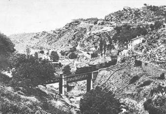 jar, puente de San Albin, postal comercial, fondo: Miguel Diagpo Arcusa
