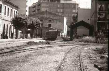 Estacion de Denia, año 1980, foto : Juan Peris Torner