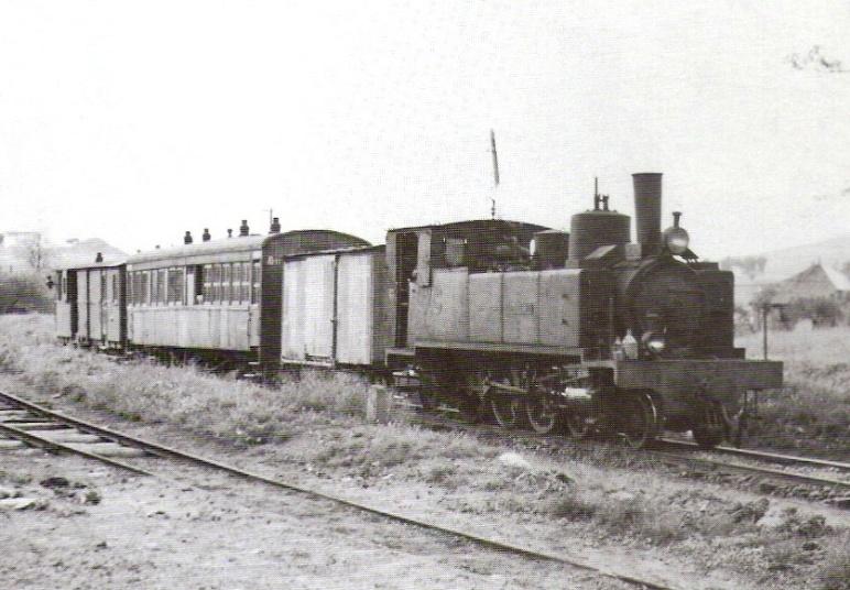 Locomotora nº 21 en Peñarroya