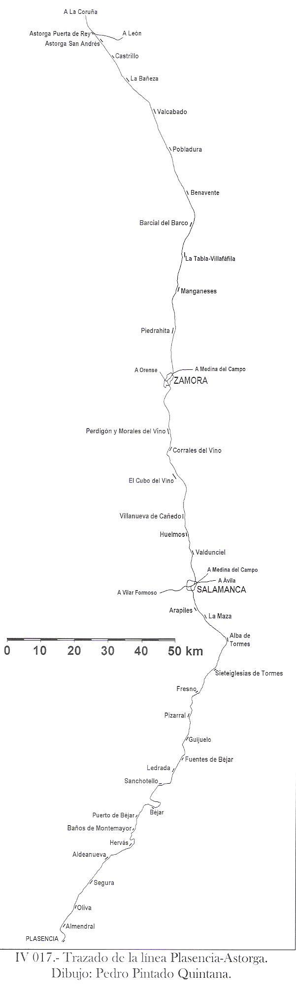 Linea de Plasencia a Astorga