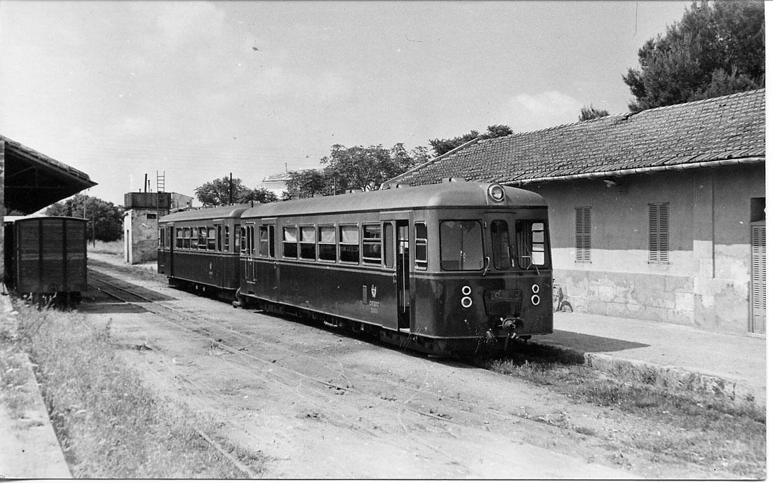 Estacion de Sa Pobla, año 1960,