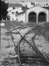 Cocheras de la estación de Denia, año 1980, foto Juan Peris Torner