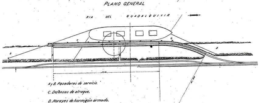 Plano de la disposicion de vias del cargadero
