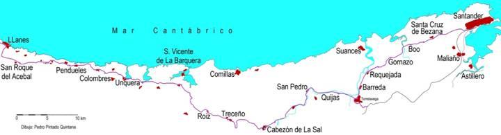 Plano de la línea, dibujo : Pedro Pintado Quintana