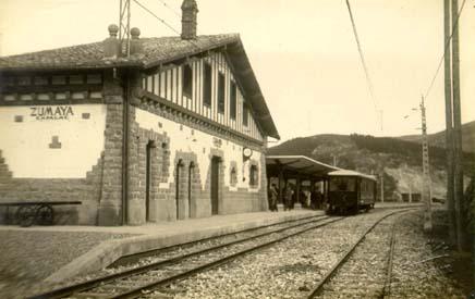 Estacion de Zumaya, año 1920,