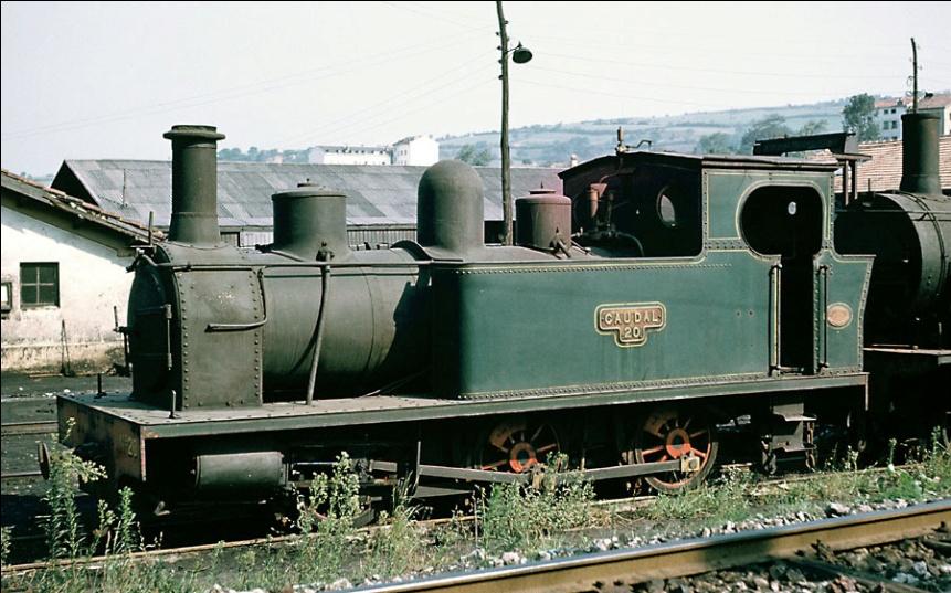 """Locomotora nº 20, """"Caudal"""", 030T, junio 1964,"""